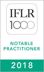 IFLR1000 (2018) Notable practitioner Rosette